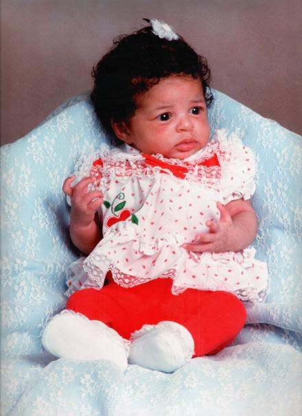 Sharee as an infant