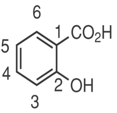 Non-Acetylated Salicylate chemical diagram