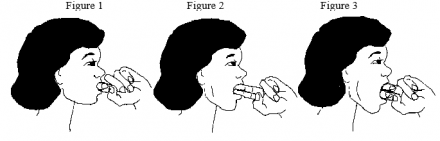 Illustration of jaw stretches